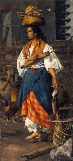 File:Mujer filipina by Lorenzo de la Rocha Icaza - MBACO. Philippines Outfit, Les Philippines, Philippines Culture, Traditional Filipino Tattoo, Filipino Art, Filipino Culture, Filipino Tattoos, Philippine Mythology, Philippine Art