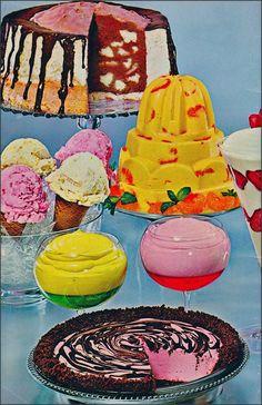 Retro dessert colors I can't resist - Food Photography Vintage Sweets, Vintage Baking, Vintage Food, Retro Sweets, 70s Food, Retro Food, Food Styling, Jello Recipes, Jello Desserts