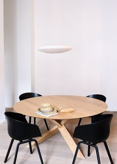 Ethnicraft Oak Circle Dining Table from Curious Grace