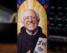 Saint Bernie Sanders Prayer Candle - Feel the Bern!
