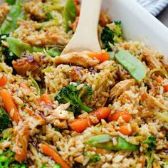 Teriyaki Chicken Casserole with Soy Sauce Water Brown Sugar Ground Ginger Minced Garlic Cornstarch Boneless Skinless Chicken Breasts Vegetables White Rice. Gourmet Recipes, Dinner Recipes, Cooking Recipes, Healthy Recipes, Dinner Ideas, Simple Recipes, Healthy Drinks, Drink Recipes, Yummy Recipes