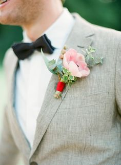 Pink anemone boutonniere: http://www.stylemepretty.com/collection/2880/