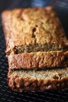 via Amandeleine: Banana Banana Bread.  I just made this and it is slammin'! The last banana bread recipe I used asked for 2-3 bananas. This asked for 6!