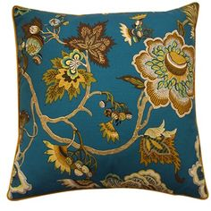 "I pinned this Jazmine 20"" x 20"" Pillow in Jade from the Jiti event at Joss & Main!"