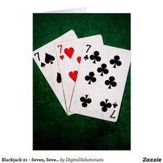 Blackjack 21 - Seven, Seven, Seven Card