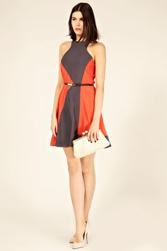 Oasis color block dress
