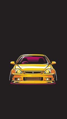 Civic Car, Civic Coupe, Honda Civic Sedan, Civic Hatchback, Honda Civic Type R, Tuner Cars, Jdm Cars, Honda Vtec, Jdm Wallpaper