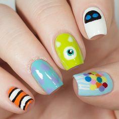 Animal Nail Designs, Disney Nail Designs, Animal Nail Art, Disney Inspired Nails, Disney Acrylic Nails, Best Acrylic Nails, Easy Disney Nails, Cute Nails, Pretty Nails