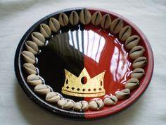 Eleggua Decorated Plate 7, Babalawos, Ifa, Santeria, Yoruba, Lucumi - Listing price: $64.99 Now: $24.99