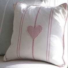 Embroidered Heart Cushion by Susie Watson Designs, the perfect gift for Explore more unique gifts in our curated marketplace. Susie Watson, Heart Cushion, Cushions To Make, Handmade Cushions, Vintage Heart, Perfect Pillow, Cushion Pads, Applique, Throw Pillows
