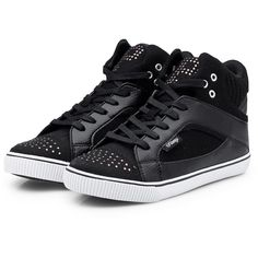 Pastry Sneaker Varsity Chic Zwart ($45) ❤ liked on Polyvore featuring shoes, sneakers, sapatos, chaussures, zapatos, black, polish shoes, black trainers, black patent leather sneakers and shiny black shoes