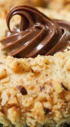 Nutella Filled Hazelnut Thumbprint Cookies