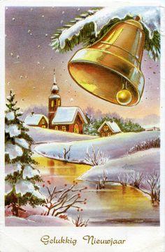 Vintage Postkaart ~Gelukkig Nieuwjaar~............lb xxx