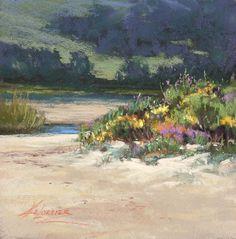 Sandscape and Flora, Carmel River Beach by Kim Lordier Pastel ~  x