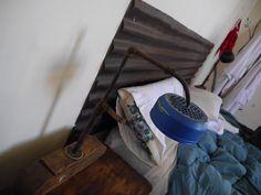 Corrugated steel bed back board