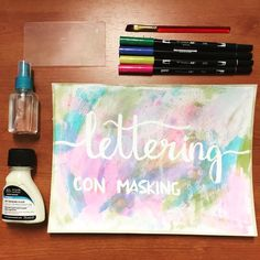 Ayer hicimos Lettering con masking fluid y mola mil! #lettering #masking #becreative #diy #fb #tombow #letteringenespañol