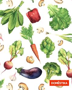 Un curso online de Ilustración de Paulina Maciel · Canela Vegetable Painting, Vegetables Photography, Wall Drawing, Ab Workout At Home, Beautiful Drawings, Meaningful Tattoos, Vegetables List, Vegetables Garden, Healthy Vegetables