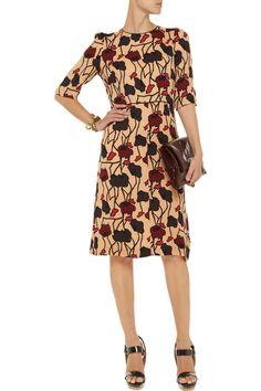 Floral-print crepe-jersey dress | Marni |