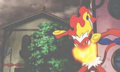 Pokemon GIF: Infernape's Flamethrower |Click on the image to play...