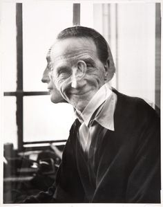 In March the Greenwich Village gallery owner Michael Freilich (RoKo Gallery) asked 28 year-old Victor Obsatz to photograph Marcel Duchamp in his apartment on West Street. The resulting double-exposure print pleased Duchamp very much. Vladimir Kush, Jeff Koons, Famous Artists, Great Artists, Piercings, Aesthetic People, Art Moderne, Portraits, Double Exposure