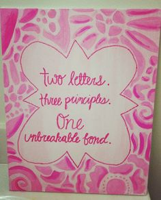 Phi Mu sorority canvas Would be so cute in green KD