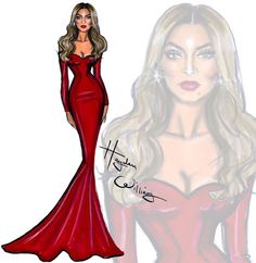 Hayden Williams Fashion Illustrations: Tina Knowles Lawson by Hayden Williams