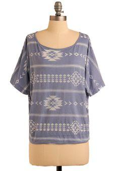 Oak Creek Canyon Top   Mod Retro Vintage Short Sleeve Shirts   ModCloth.com