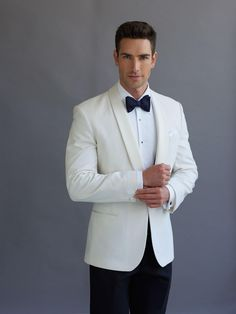 Ivory Dinner Jacket - weddings & formal occasions