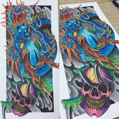 Finally done with this dragon !!! Really fun training with the dragon, more to come !!! #japaneseart #japanesetattoo #japanesecollective #asianart #asiantattoo #asian_inkandart #orientaltattoo #skulltattoo #dragontattoo #tattooflash #tattooprints #irezumicollective #irezumi #singaporetattoo #sgtattoo #galaxytattoo2 #copicmarkers #reclaimthedots #flashworkers#rivervalleyprintingco #japanesetattooart