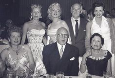 Hollywood players: Betty Grable, Marilyn Monroe, Walter Winchell, Jane Russell, Lucille Ball, Jimmy McHugh, and Louella Parsons | Golden Age of Hollywood