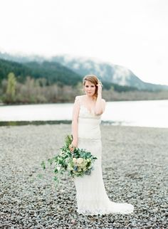 Photography : Faith Teasley Photography Read More on SMP: http://www.stylemepretty.com/little-black-book-blog/2015/05/21/rustic-elegant-pacific-northwest-bridal-inspiration/