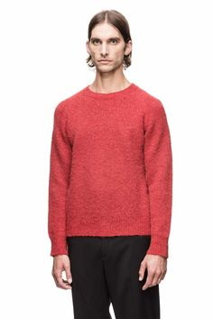 Beautiful red Knit from Our Legacy.  I'm in love with this tone of watermelon red (?)