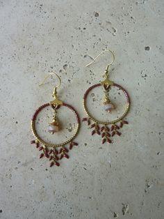 Image of Boucles d'oreille créoles INDIA Bordeaux -30%