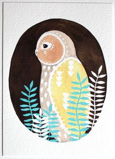 Owl Painting by RiverLuna