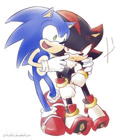 """Sonic, """"Come on, faker. It'll be fun. Put a smile on."""""""