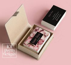 Floral business card design flowers business card template