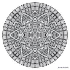 Mandala drawing 19 by Mandala-Jim