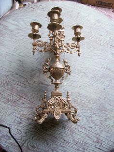 Brass Candelabra Italy ornate by rustyitems on Etsy, $75.00