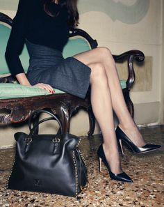 tights, pointed toe, stiletto heel, pumps, fishnets  from HeelsFetishism