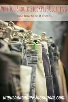 Clothing is one of the biggest expenses that a family has. Learn how to cut that expense by more than half by stockpiling clothing and how to do it cheap.