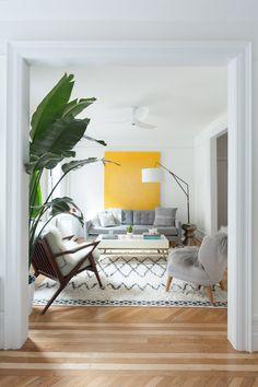 A couple creates a modern space in a 1930s Brooklyn apartment.