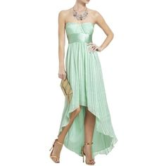 Pre-owned Bcbgmaxazria Opaline Green Alicia Silk Charmeuse Sash Gown... ($107) ❤ liked on Polyvore featuring dresses, opaline green, asymmetrical short dress, asymmetrical draped dress, long dresses, bcbgmaxazria and short green dress