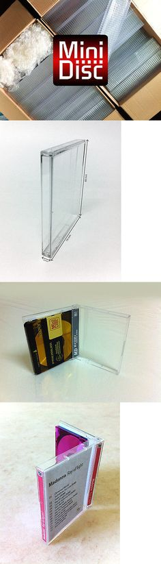MiniDiscs: 100X Minidisc Cases - Md Data - Mini Disk Box (In Compact Disc Style) W -> BUY IT NOW ONLY: $113 on eBay!