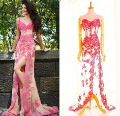 Sweetheart Beading Lace Prom Dress With Slit #ShopSimple