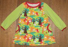 Tunika/kjole med skogens dyr
