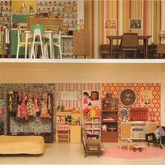 Retro Living in Dollhouse Sizes