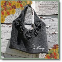 Itchy Wool Sweater to cute purse tutorial · Felting | CraftGossip.com