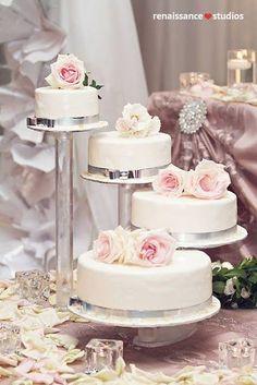 Split Tier Wedding Cake | Simply Beautiful Weddings | Pinterest ...