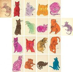 Warhol 25 Cats Named Sam and One Blue Pussy – Andy Warhol Andy Warhol, Pittsburgh, Pop Cat, Academic Drawing, Artist Birthday, Illustrations, American Artists, Cat Art, Oeuvre D'art