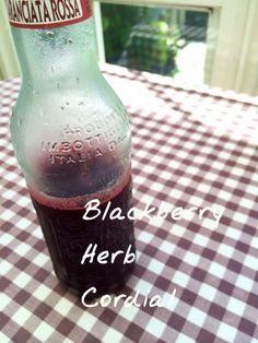 ブラックベリー ハーブコーディアル | plat du jour*